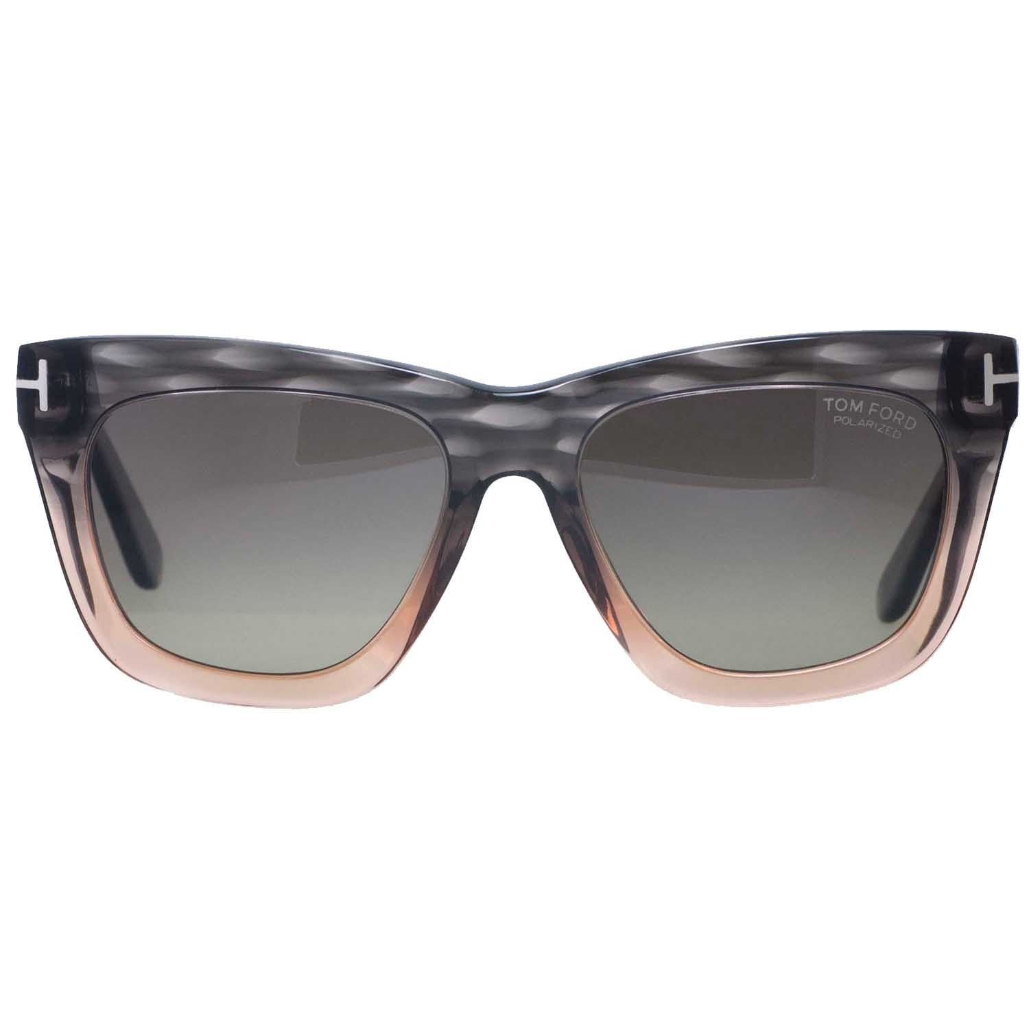 6a4c7c85461c Shop Tom Ford Celina TF361 20D Grey Peach Square Women s Polarized  Sunglasses - peach grey - 55mm-18mm-140mm - Free Shipping Today - Overstock  - 14050917