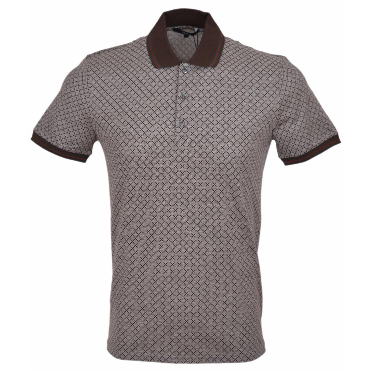 Shop Gucci Mens 251624 Cotton Slim Fit Web Stripe Diamante Polo