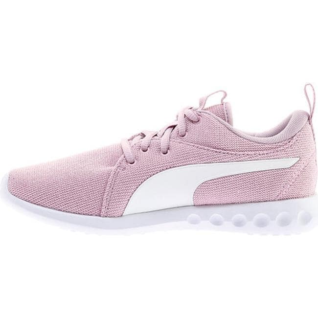 Shop PUMA Women s Carson 2 Knit NM Sneaker Winsome Orchid PUMA White Knit -  Free Shipping Today - Overstock - 25558856 f153df09b