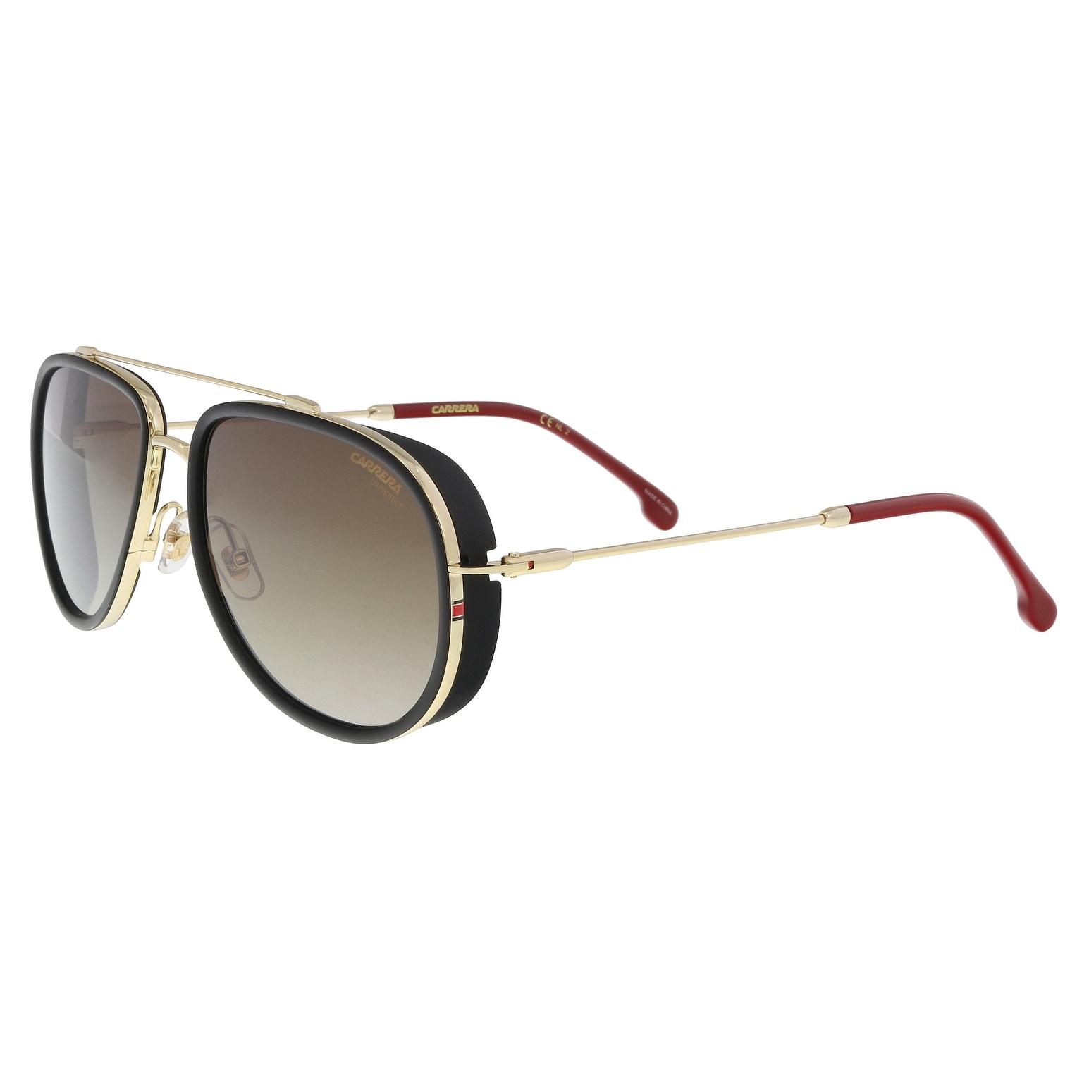c525d0e55372f Shop Carrera CARRERA 166 S 0Y11-HA Black  Gold Aviator Sunglasses -  59-18-145 - Ships To Canada - Overstock - 21158016