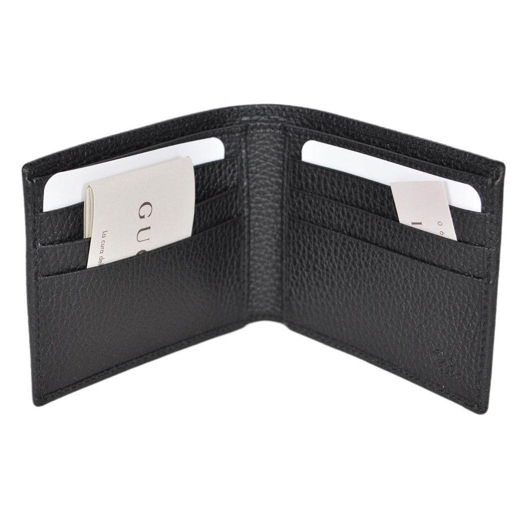 ffe9272020d Shop Gucci Men s 260987 Black Nylon Web Detail GG Guccissima Bifold Wallet  - Free Shipping Today - Overstock - 22081351