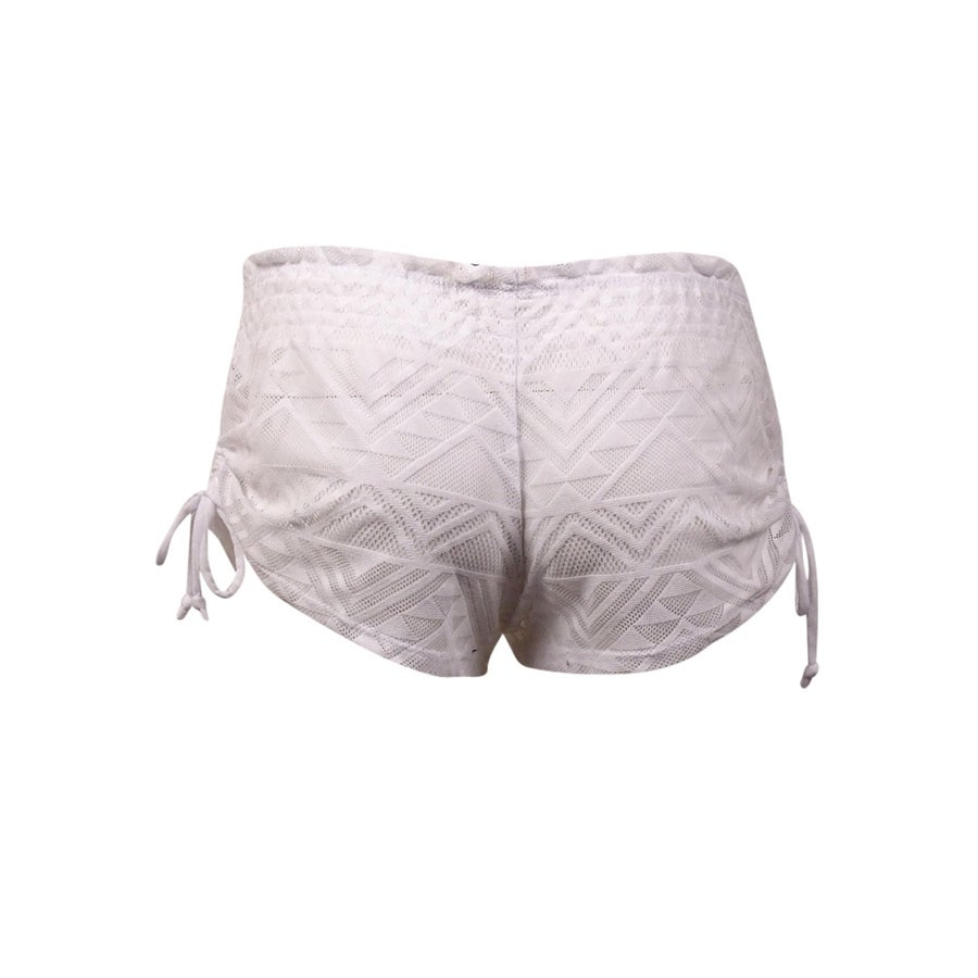 a1429f2d88 Shop Miken Women's Ruched-Tie Lace Swim Cover Shorts - On Sale - Free  Shipping On Orders Over $45 - Overstock - 14681251