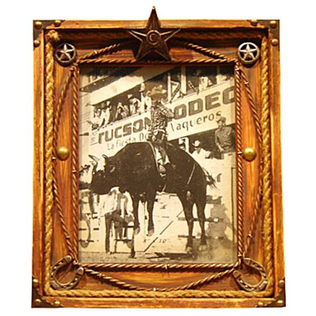 Shop Gift Corral Western Frame Photo Memory Star 8x10 Brown - Free ...