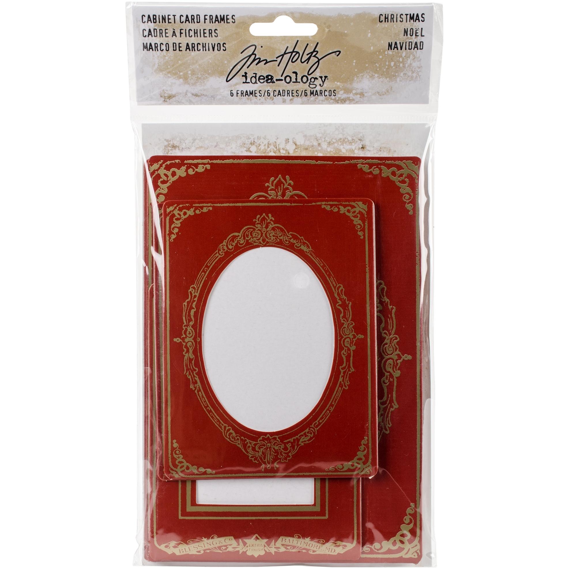 Idea-Ology Cabinet Card Frames 6/Pkg-Christmas, (3) 4\