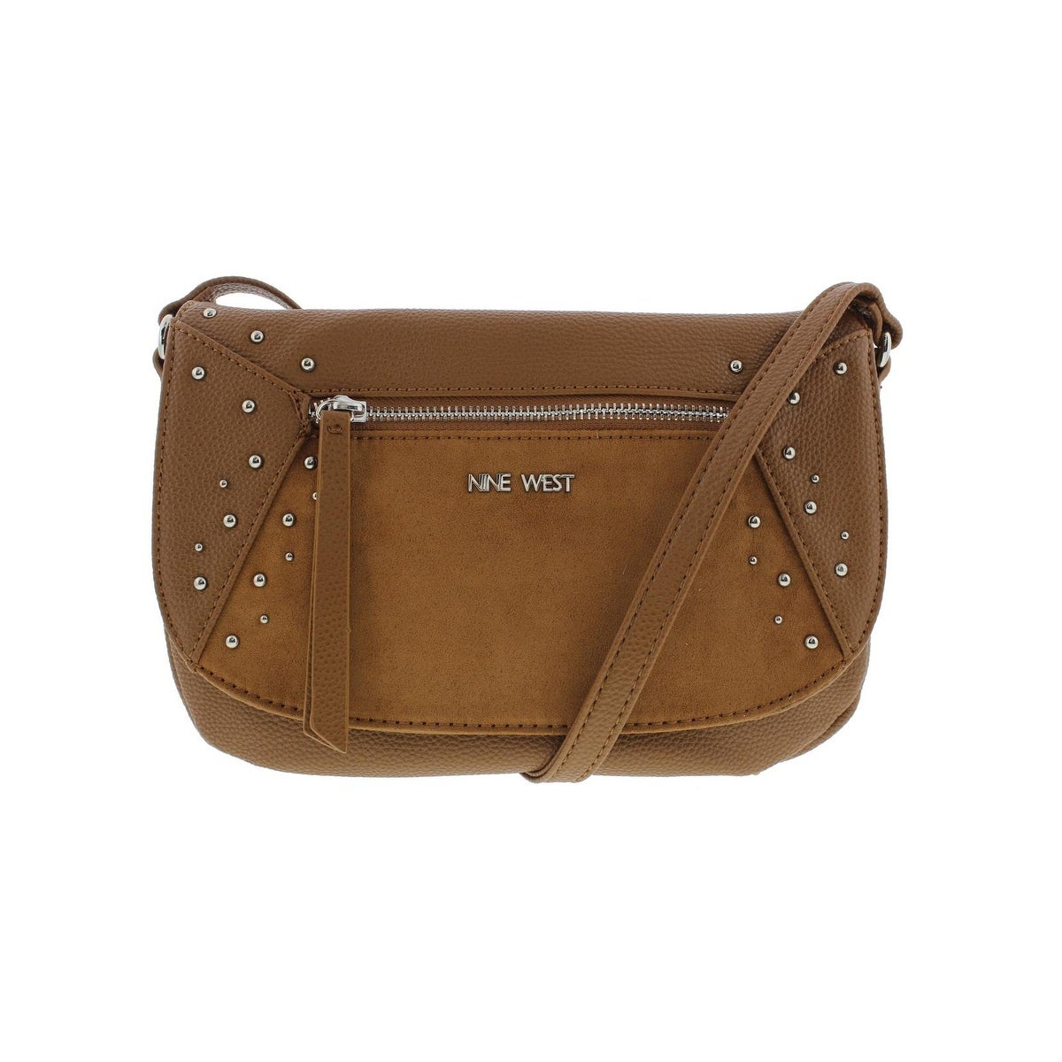 Nine West Womens Studded Star Crossbody Handbag Faux Leather Lined Small Free Shipping On Orders Over 45 14381066