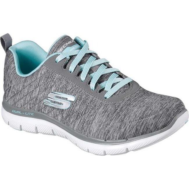 0a765bddfea8 Shop Skechers Women s Flex Appeal 2.0 Training Sneaker Gray Light ...