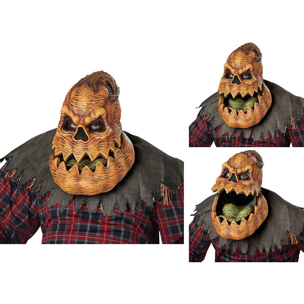 shop adult psycho lantern ani-motion pumpkin mask - standard - one