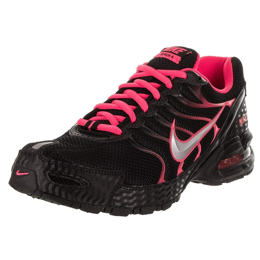 57194c12ac01 Nike Women Air Max Torch 4 Running Shoe Black Metallic Silver Pink Flash  Size 9 M Us