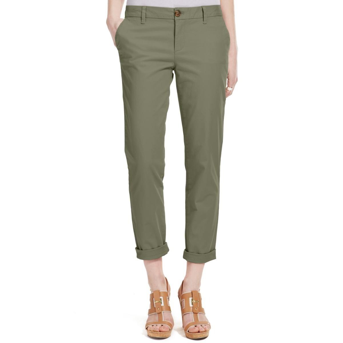 d7ae09f52 Shop Tommy Hilfiger Womens Hampton Chino Pants Casual Slim Fit ...