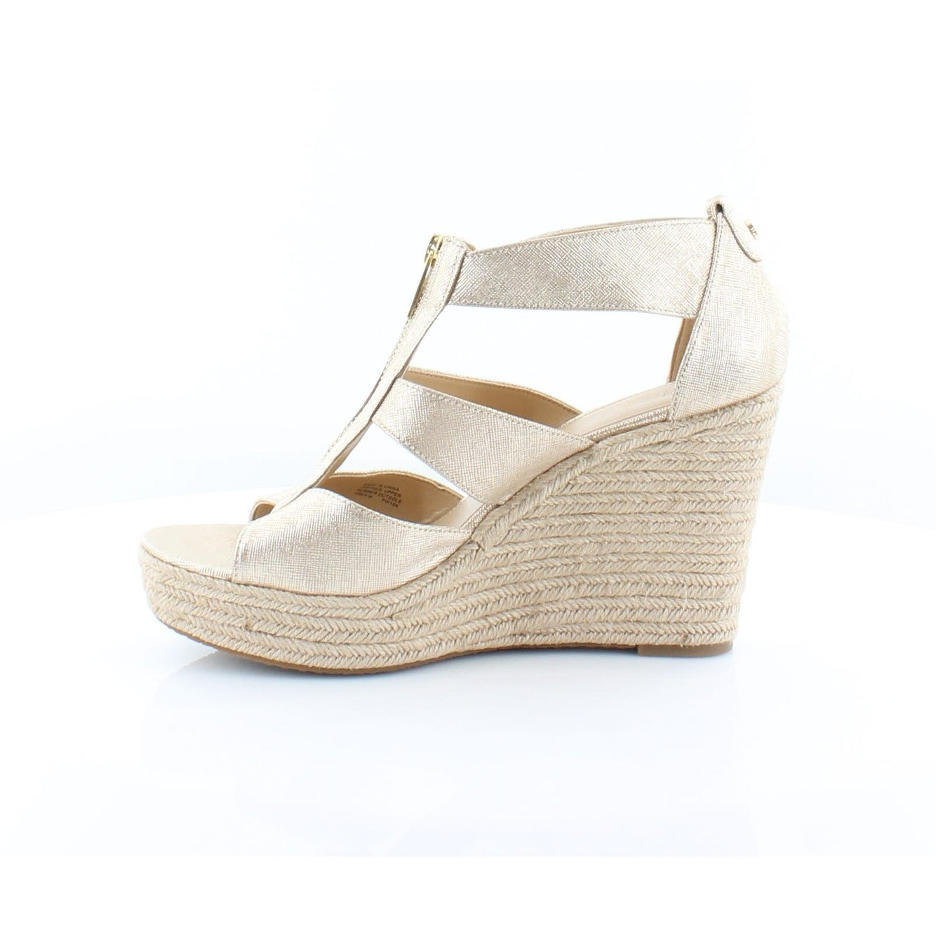 052446df872c Shop Michael Kors Damita Wedge Women s Heels Pale Gold - Free Shipping  Today - Overstock - 23549226