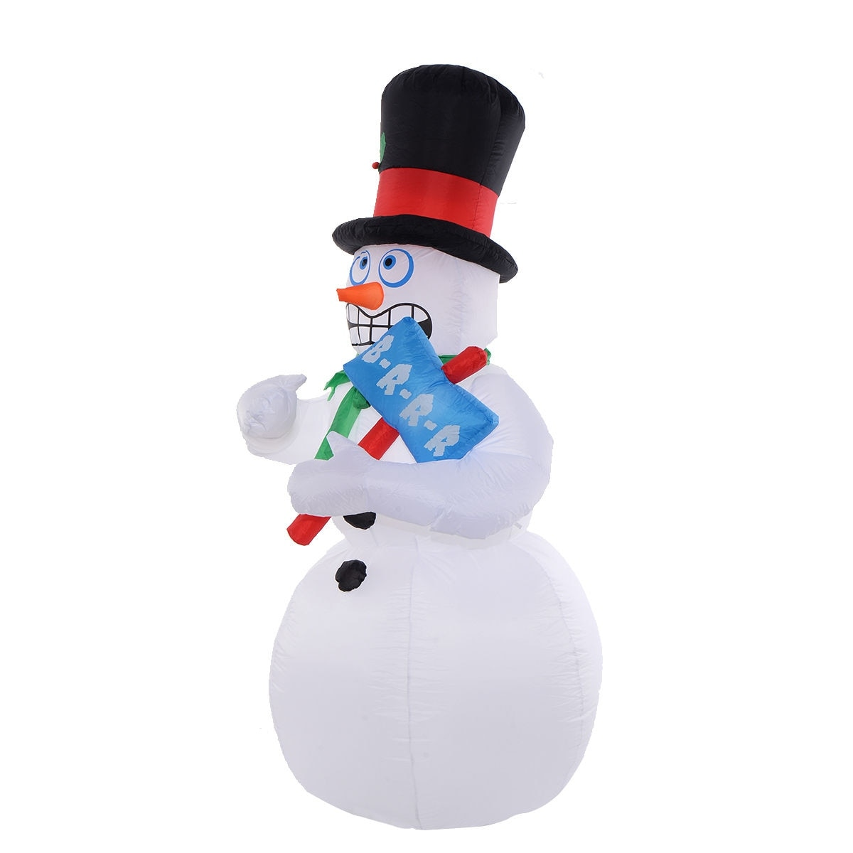 Shop Costway 7Ft Airblown Inflatable Christmas Snowman Gemmy Lighted ...