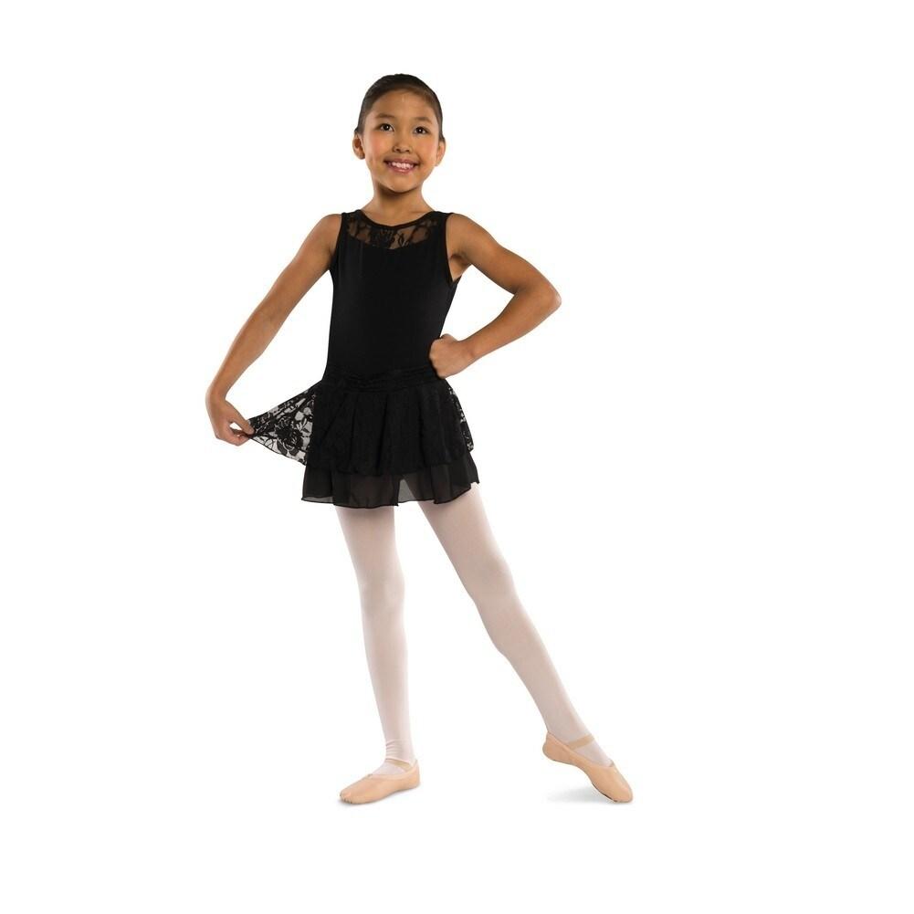 0ac08a220 Shop Danshuz Black Lace Accent Chiffon Skirt Sash Tank Dance Dress ...