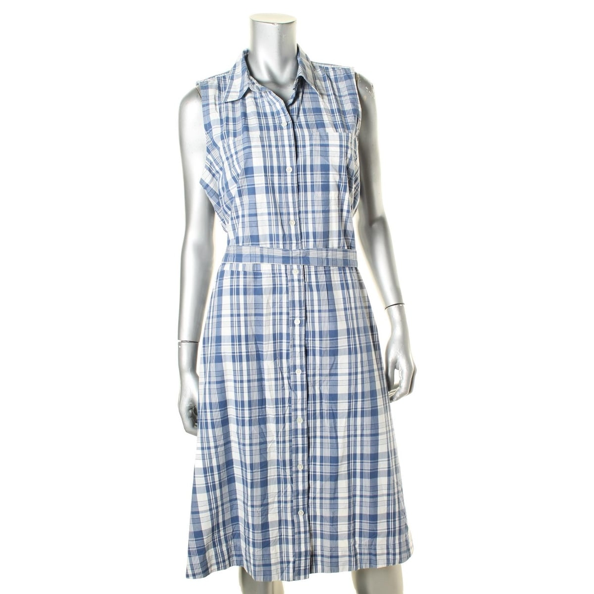 Shop American Living Womens Shirtdress Plaid Tie Front Free