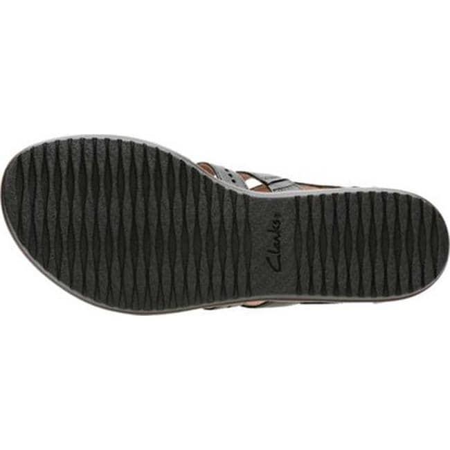 70639db610e4 Shop Clarks Women s Kele Lotus Gladiator Sandal Black Full Grain Leather -  On Sale - Free Shipping Today - Overstock - 20590145