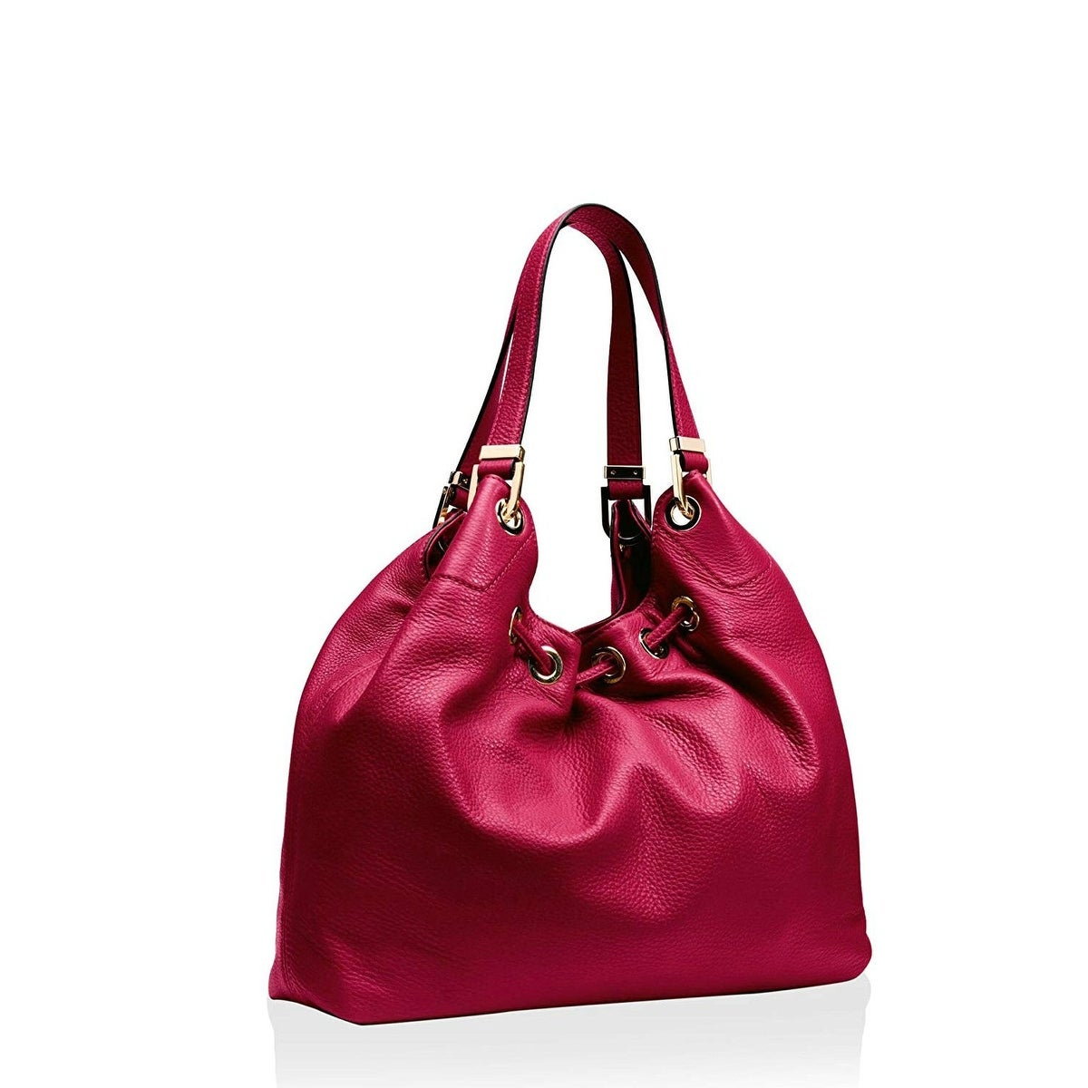 458d3f3915b2 Shop MICHAEL Michael Kors Camden Large Drawstring Shoulder Tote Bag  Cherry/Gold - One Size - Free Shipping Today - Overstock - 27296237