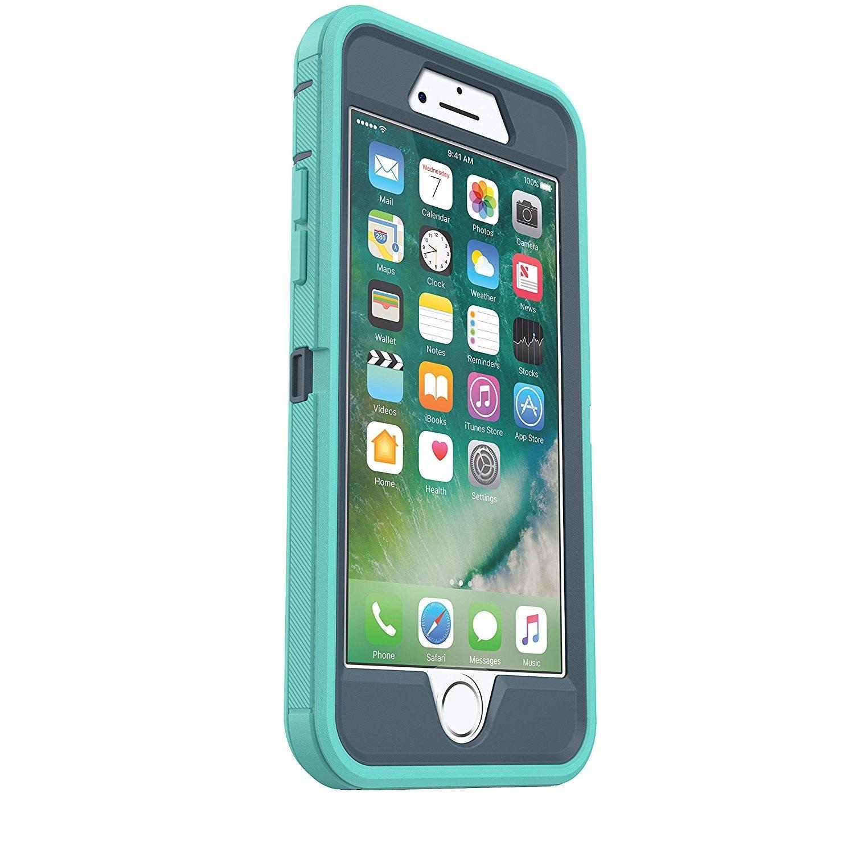 buy online 49c6c 22ca8 OtterBox DEFENDER SERIES Case for iPhone 8 & iPhone 7 (NOT Plus) - BOREALIS  (TEMPEST BLUE/AQUA MINT) - Green