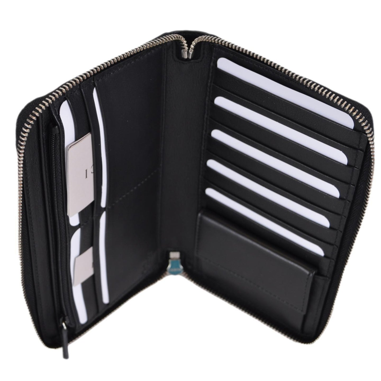 64979ea561f8 Shop Gucci 391465 XL Micro GG Black Leather Zip Around Travel Wallet Clutch  - 8