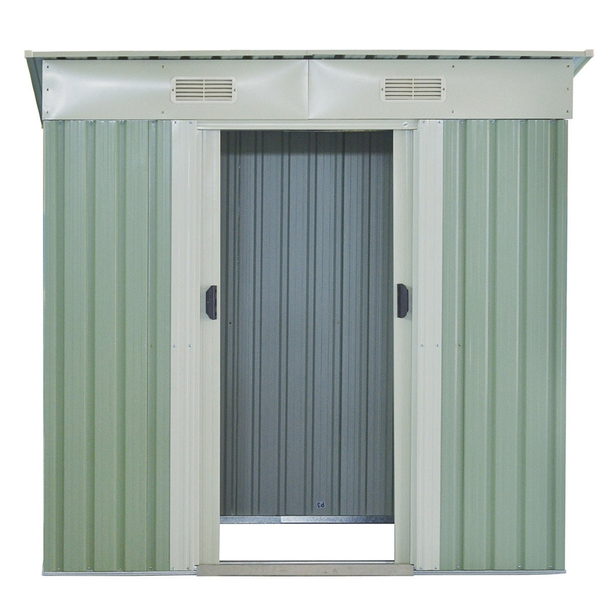 Costway 4x6FT Outdoor Garden Storage Shed Tool House Sliding Door Galvanized Steel Green - Free Shipping Today - Overstock - 22766920  sc 1 st  Overstock.com & Costway 4x6FT Outdoor Garden Storage Shed Tool House Sliding Door ...