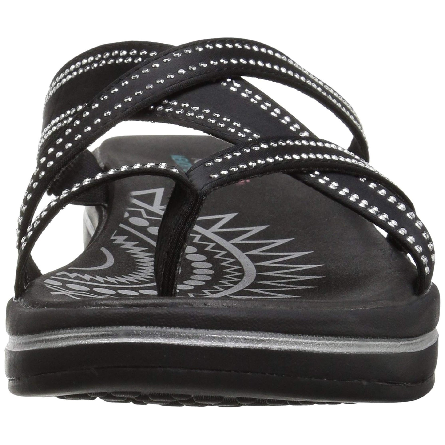 24841f75e3a0d9 Shop Skechers Women Upgrades-Dazzle Time-Rhinestud Multi-Strap Flip Flop