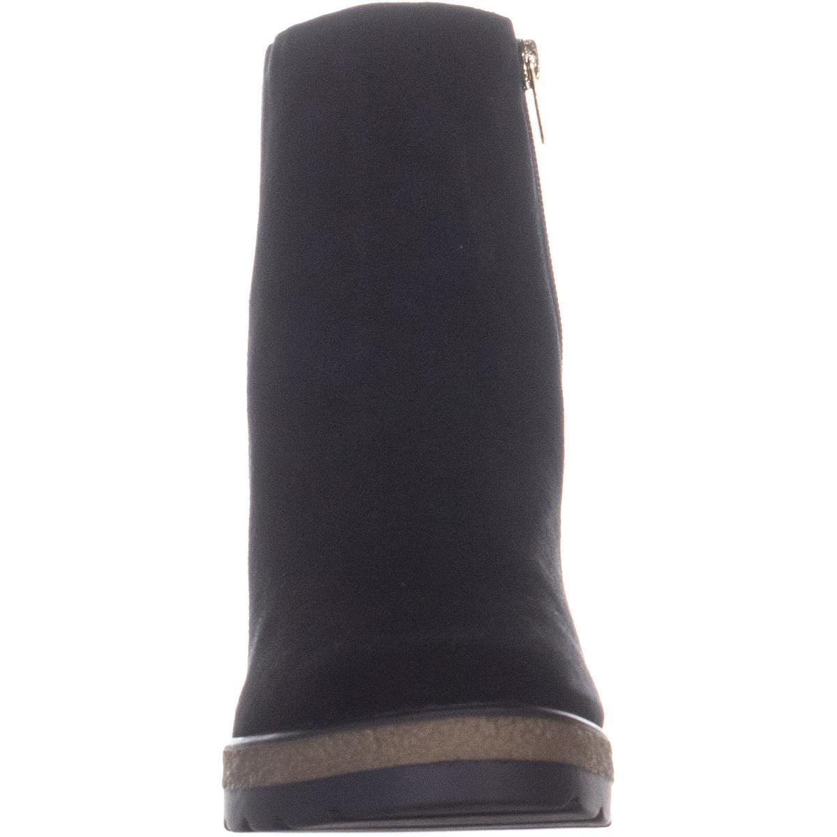 3bc5a2fb6e8 Shop DKNY Daisy Wedge Ankle Boots, Black Suede - Free Shipping Today -  Overstock - 26063360