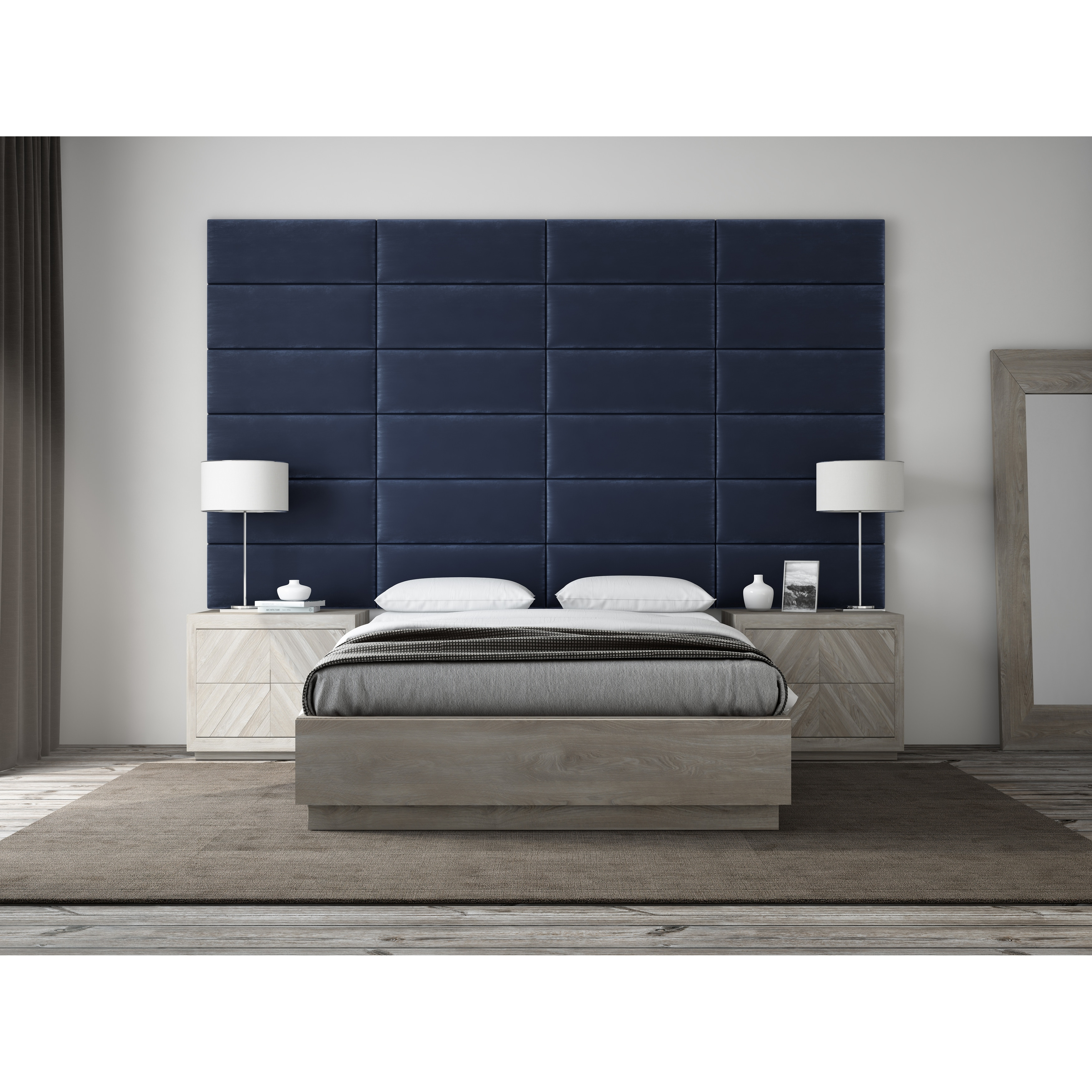 Shop VANT Upholstered Headboards - Accent Wall Panels - Packs Of 4 ...