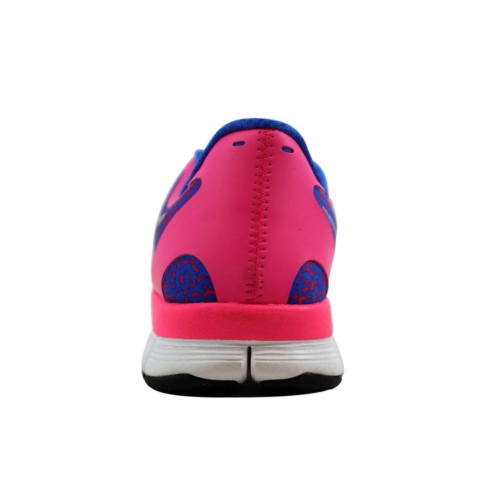 f7dac851ac860 Nike Women s Free 5.0 V4 Hyper Pink Metallic Platinum-Hyper Cobalt 511281- 605 - Free Shipping Today - Overstock - 27583439
