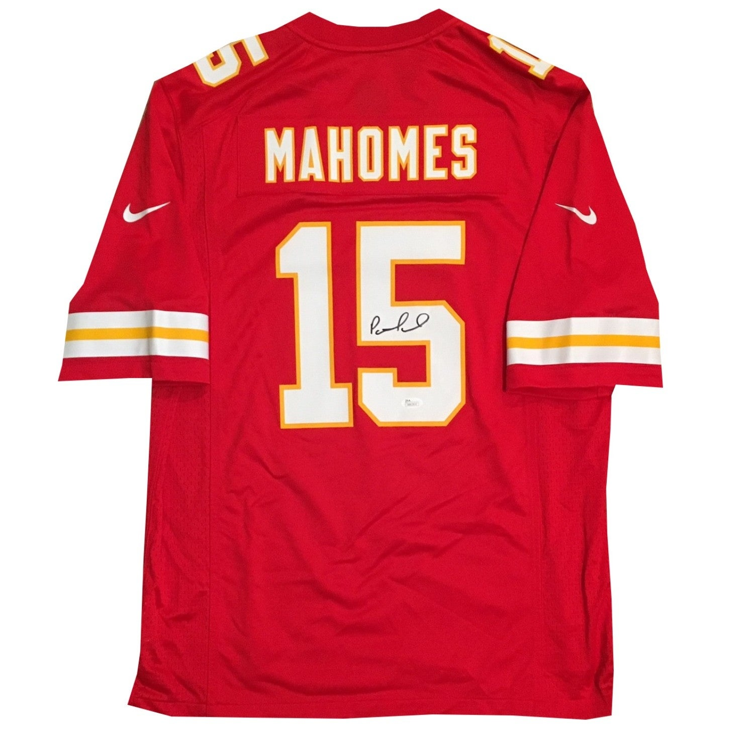 9a9d62444b2 Patrick Mahomes Autographed Kansas City Chiefs Signed Nike Game Football  Red Large Jersey JSA COA