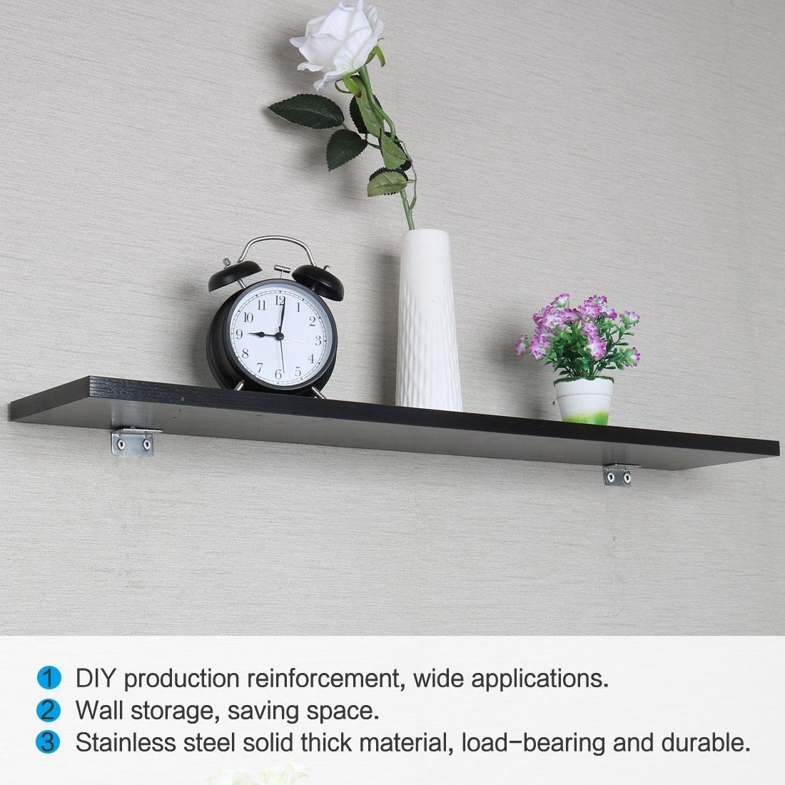 20pcs Angle Bracket Metal 40x20mm Corner Fastener L Shaped Right Angle  Bracket Corner Protector Shelf Support for Furniture