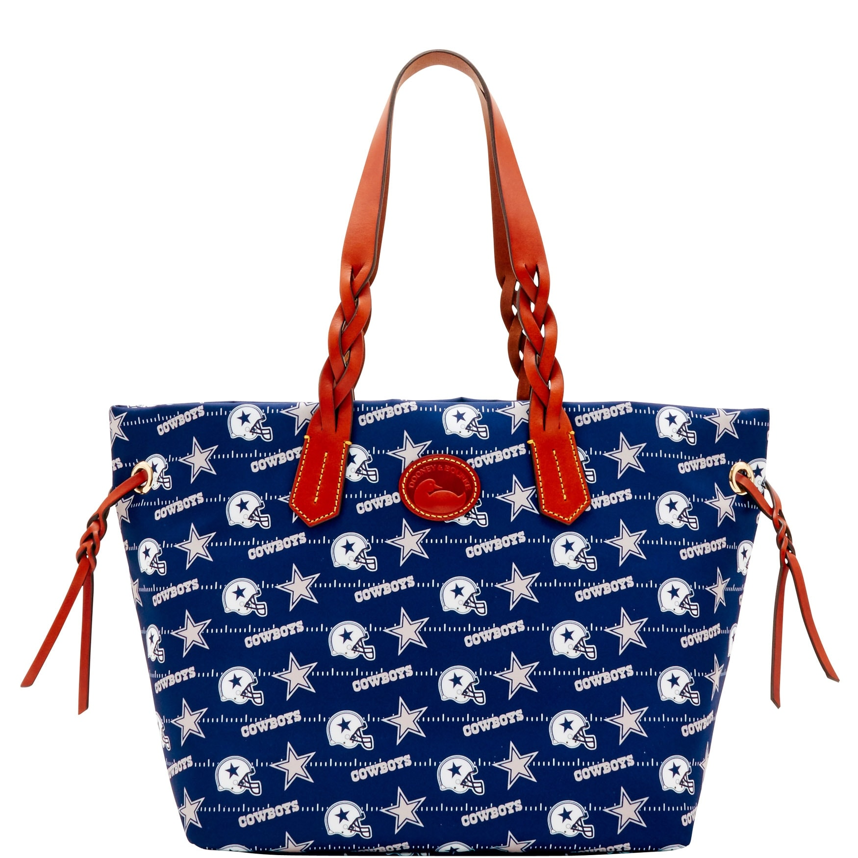 9ec33924f69 Shop Dooney & Bourke NFL Dallas Cowboys Shopper Tote (Introduced by Dooney  & Bourke at $198 in Aug 2017) - Free Shipping Today - Overstock - 23141634