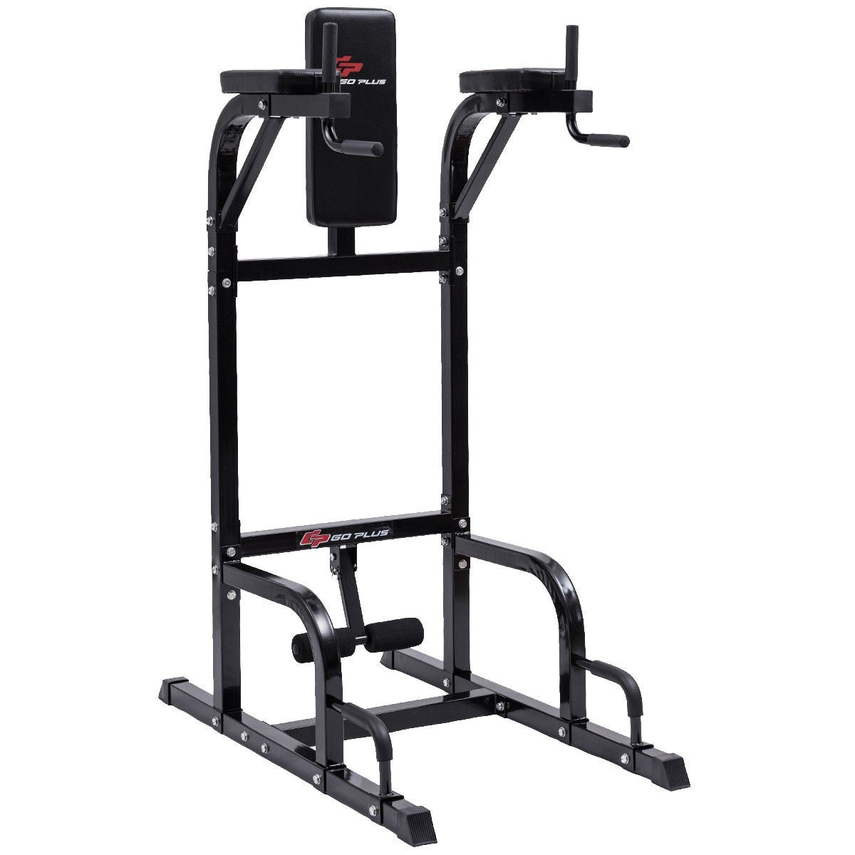Goplus Vertical Knee Raise Dip Station Chin Up Push Up Stand Power Tower  Fitness - Black df25c9f5443a