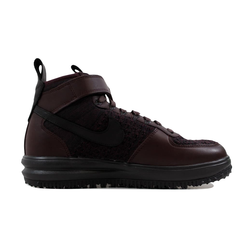 d5ccb0f0e3560 Shop Nike Men s Lunar Force 1 Flyknit Workboot Deep Bergundy Black  855984-600 - On Sale - Free Shipping Today - Overstock.com - 21892914
