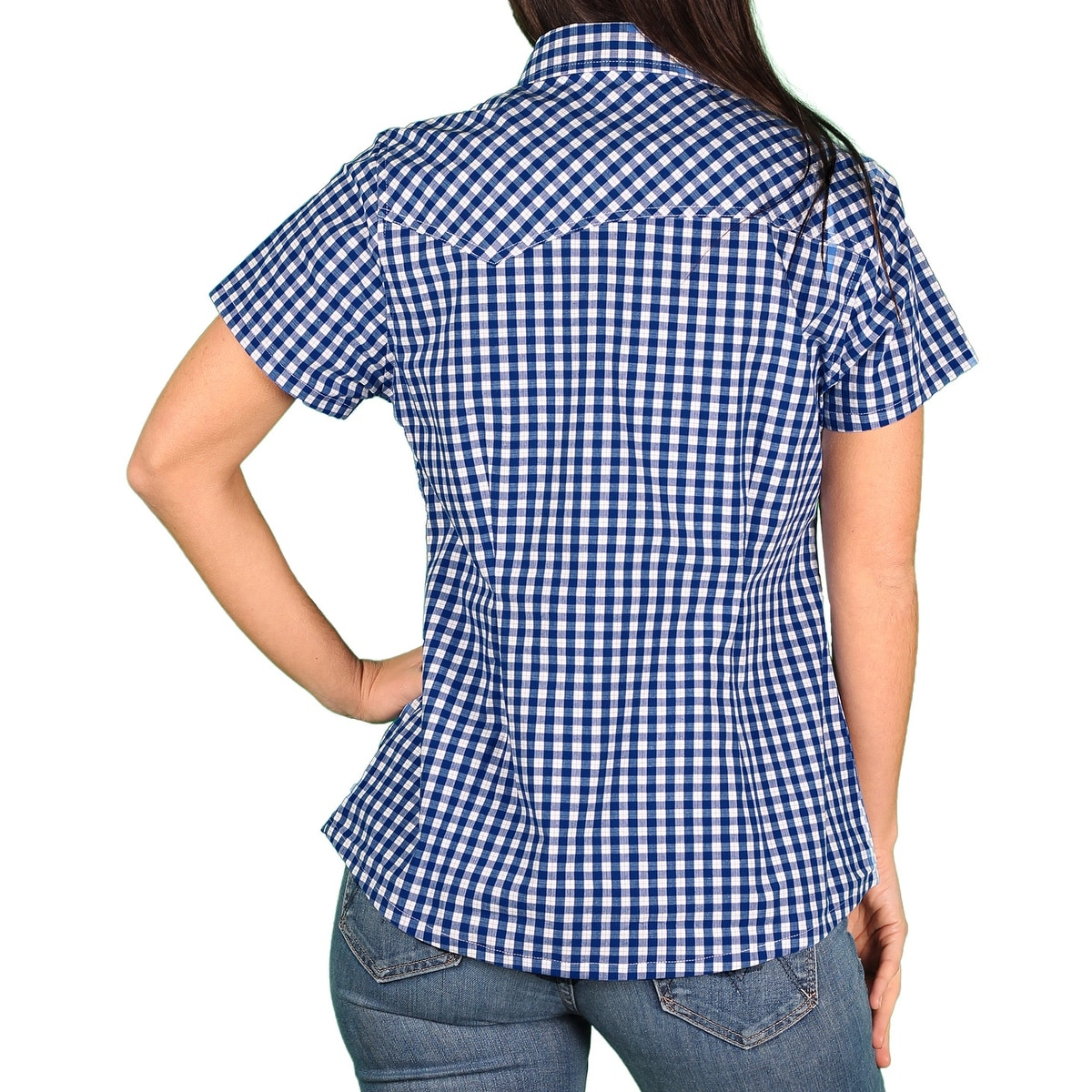 2e43c5f328dcd Shop Dickies Womens Stretch Poplin Short-Sleeve Blouse - Free Shipping On  Orders Over $45 - Overstock - 14337642
