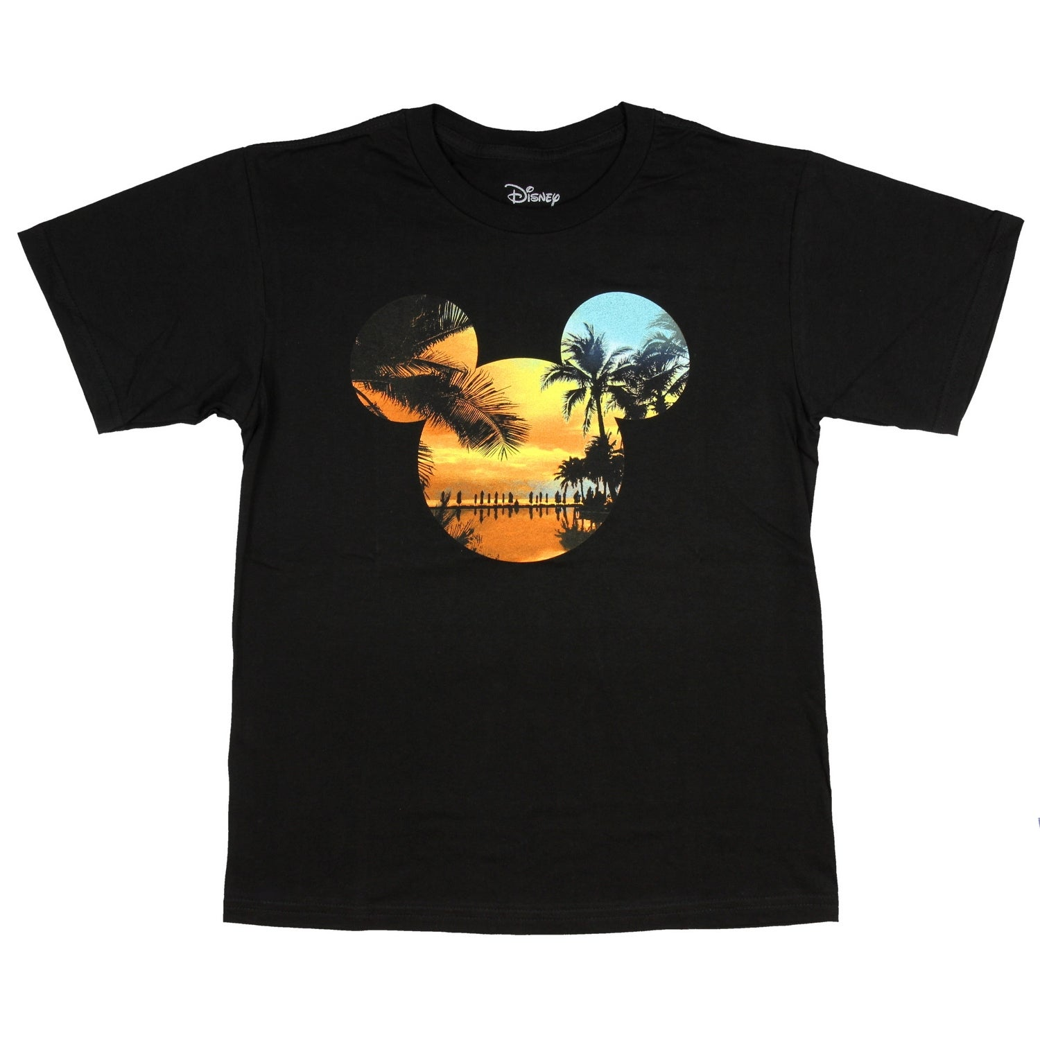 8748b25cb Shop Disney Men's Mickey Mouse Tropical Island Sunset Head Logo T-Shirt -  Free Shipping On Orders Over $45 - Overstock - 23446701