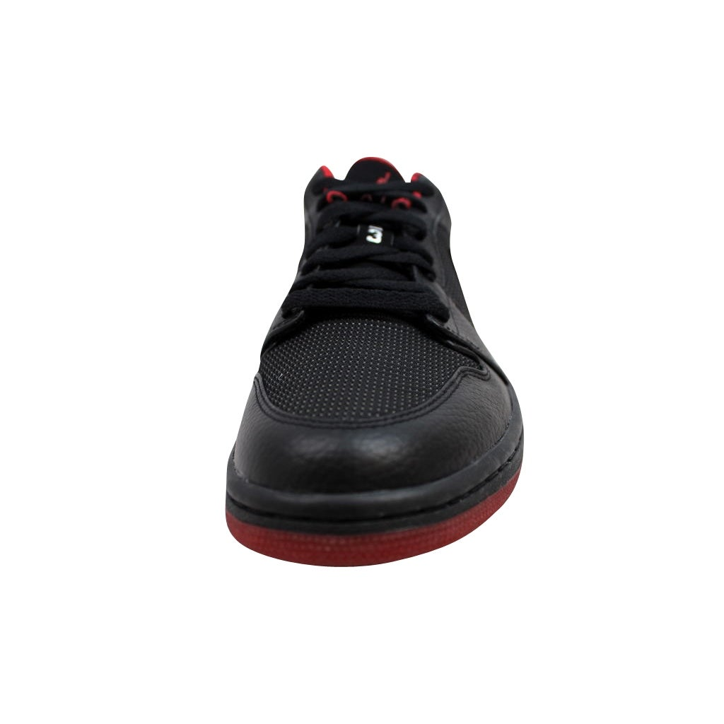 Shop Nike Men s Air Jordan I 1 Retro Low Black Metallic Silver-Varsity Red  309192-001 - Free Shipping Today - Overstock - 19576595 2ad569581dae