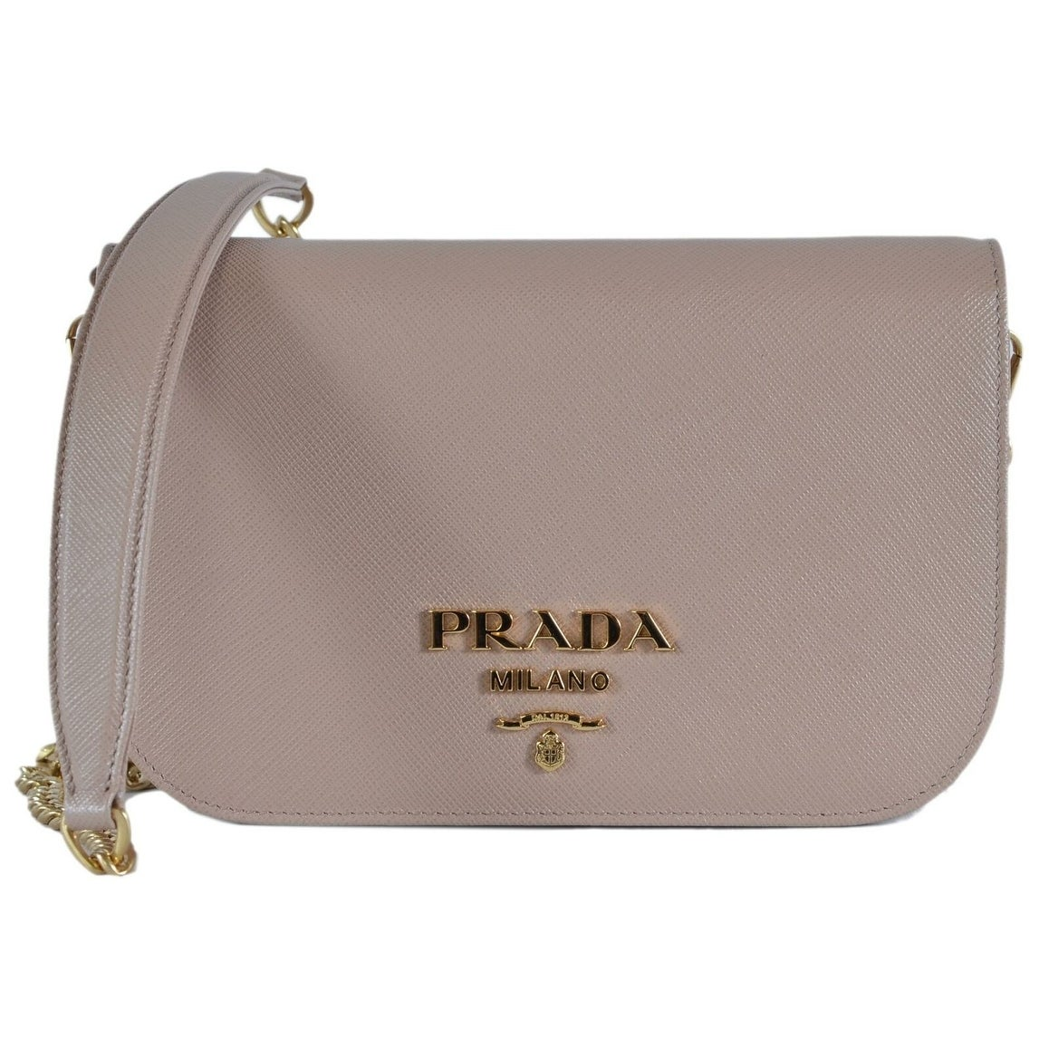 37f4f558ef6 Shop Prada 1BP013 Cipria Borsa Portafoglio Saffiano Lux Small Crossbody  Purse Bag - Beige - Free Shipping Today - Overstock - 27423067