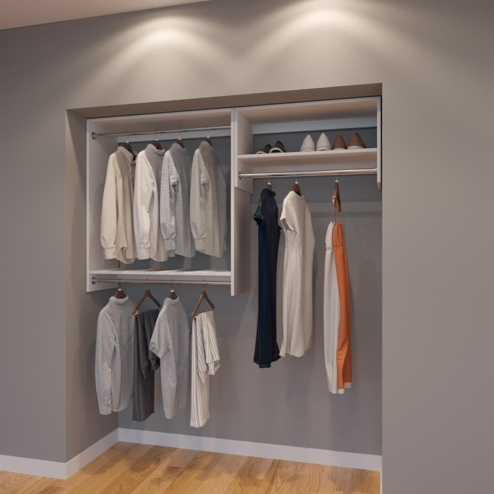 Modular Closets 6 Ft Closet Organizer System 72 Inch Style E On Free Shipping Today 21706540
