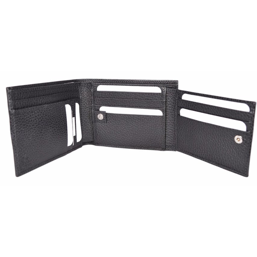 beef6b1181d Shop Gucci 217044 Men s Black Nylon GG Web Tab Trifold Passcase ID Wallet -  Free Shipping Today - Overstock - 14104650
