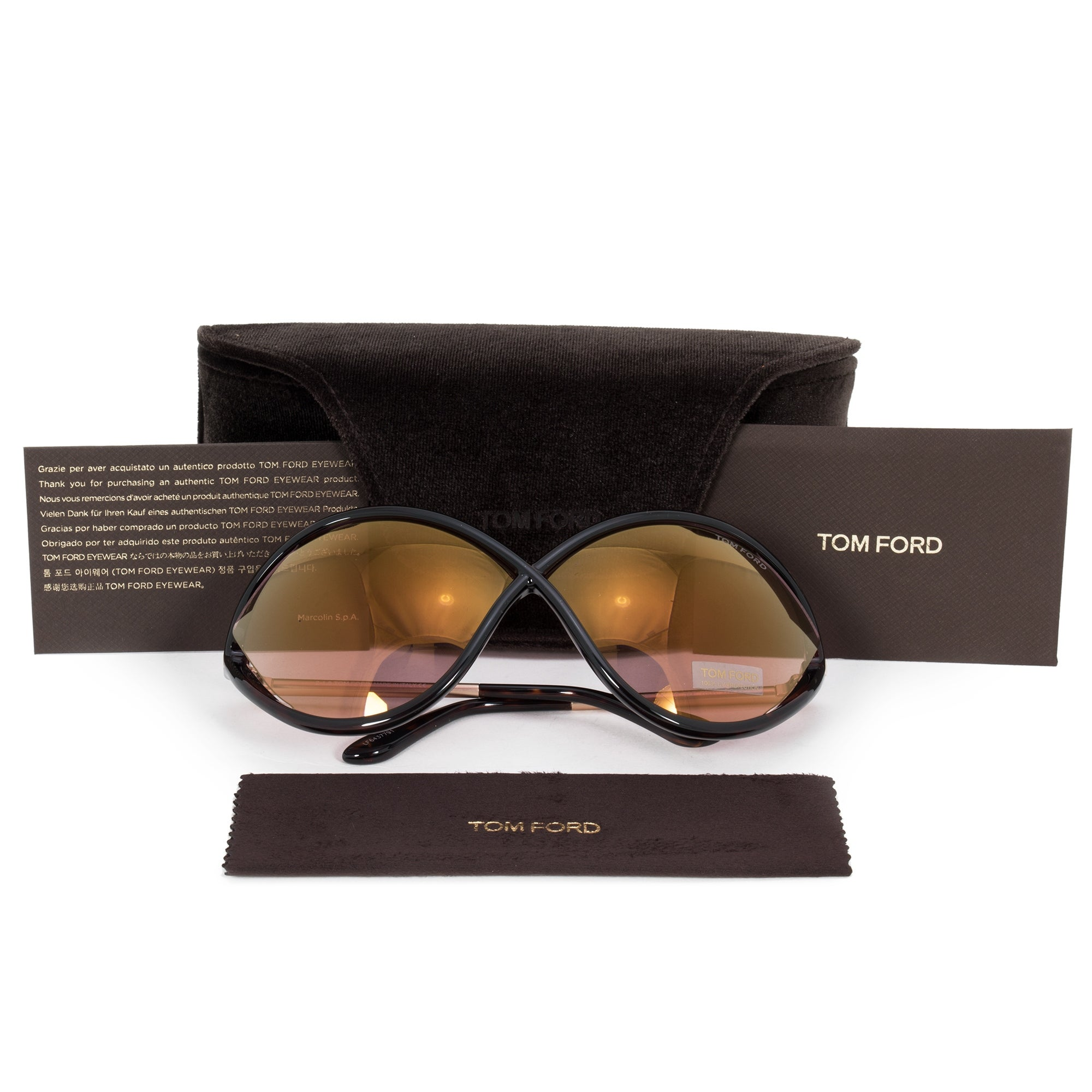 7d77505756 Shop Tom Ford Liora Oversized Sunglasses FT0528 52Z 70 - On Sale - Free  Shipping Today - Overstock - 25895526