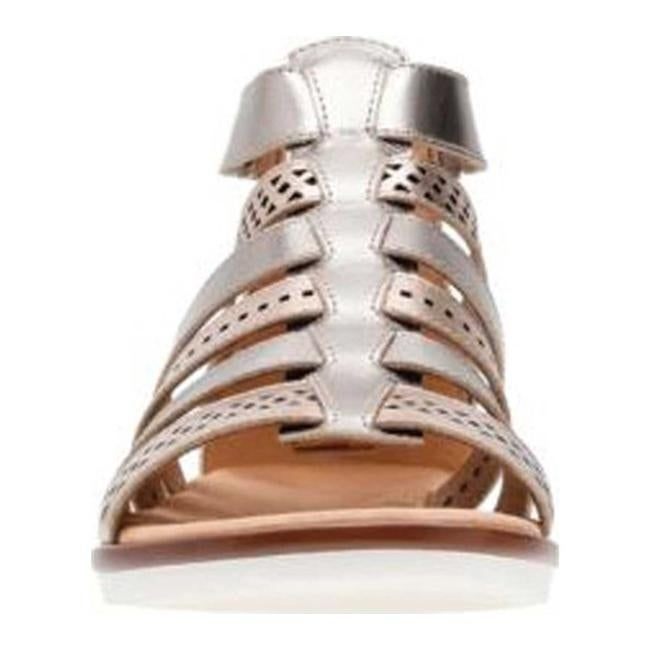c4a7b63086f1 Shop Clarks Women s Kele Lotus Gladiator Sandal Metallic Multi Full Grain  Leather - On Sale - Free Shipping Today - Overstock - 20590146