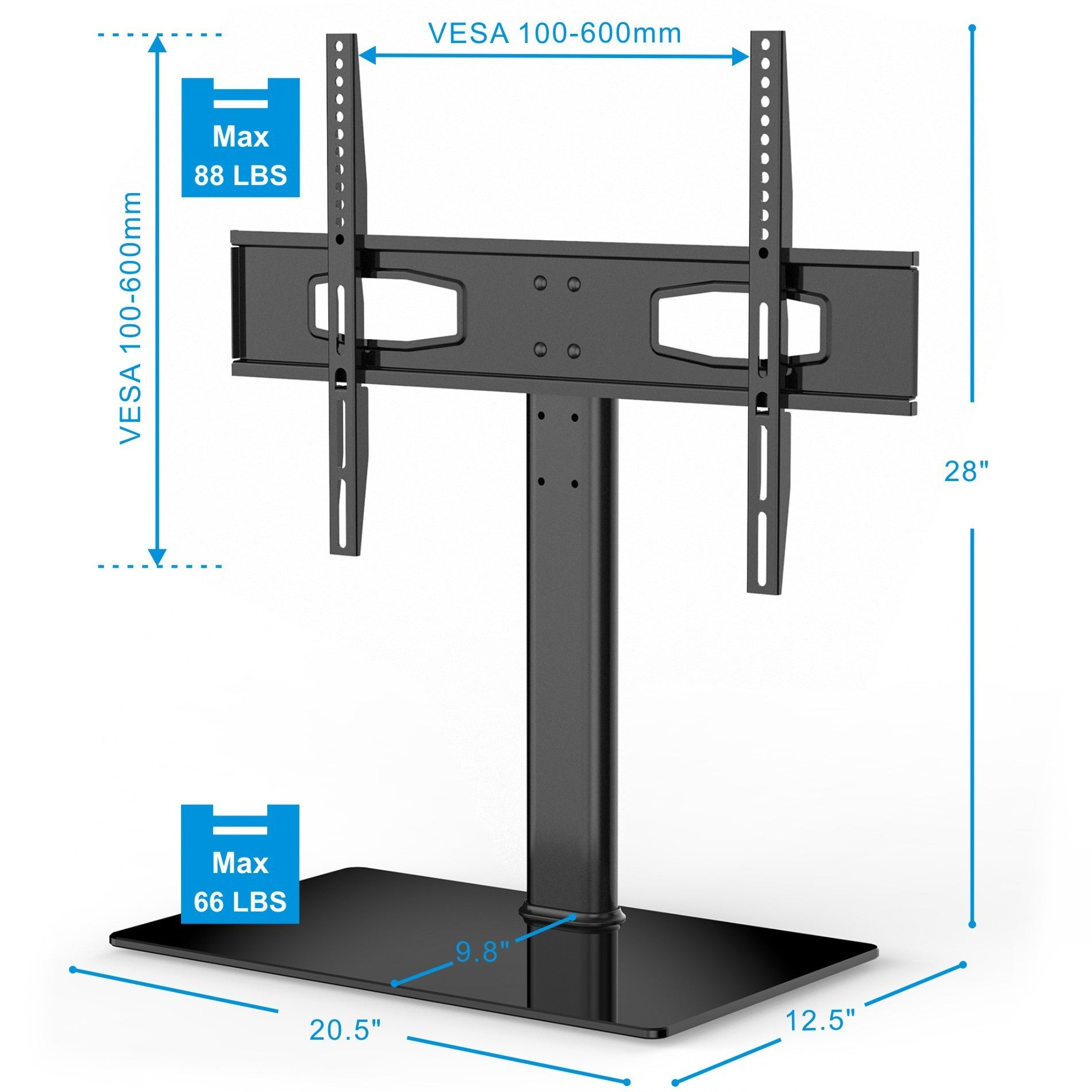 Shop Fitueyes Universal Tv Stand Base Tabletop Tv Stand With Mount