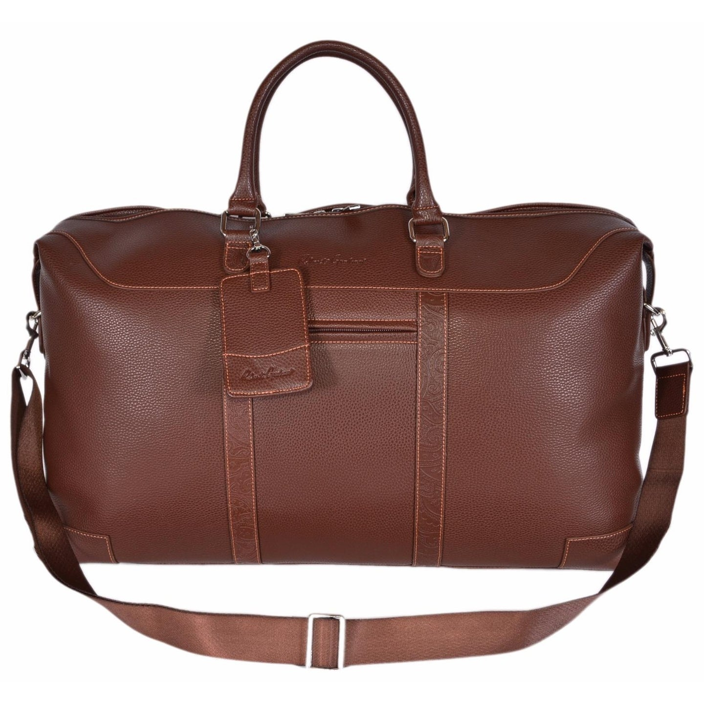 Robert Graham Brown Sammy Faux Leather Weekender Travel Duffle Bag Free Shipping Today 21498219