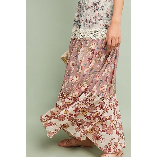 c0b47dee8b768 Shop Anthropologie Cabaret Floral Maxi Dress - Free Shipping Today -  Overstock - 26259758