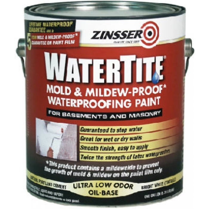 Zinsser Watere Mold Mildew Proof Waterproofing Paint 1 Gallon Free Shipping Today 24330859