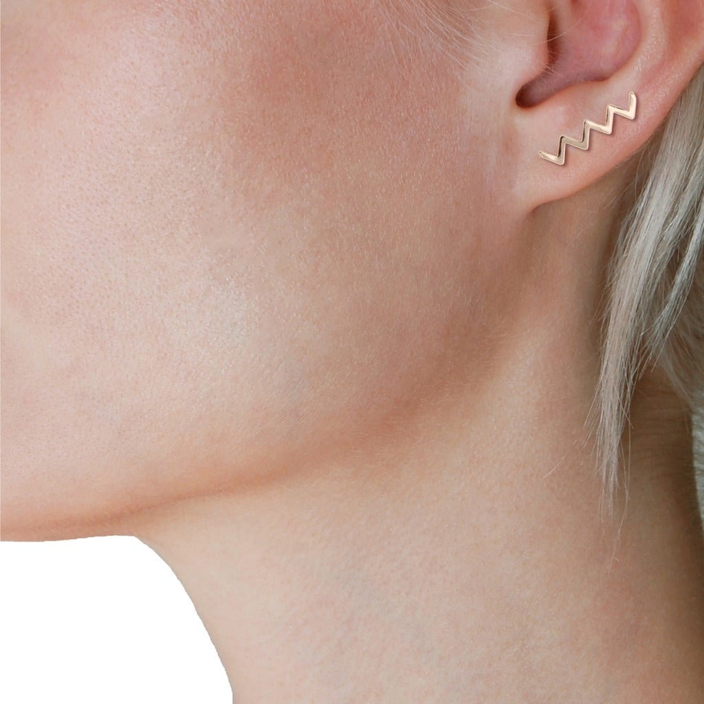 0340db8be Shop Humble Chic Zig Zag Ear Crawlers - ZigZag Shape Chevron Stud Earring  Cuffs - On Sale - Free Shipping On Orders Over $45 - Overstock - 21626028