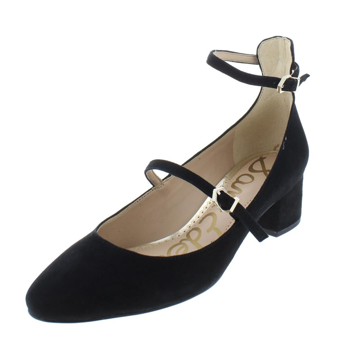 ce8cd20b54d6 Shop Sam Edelman Womens Lulie Pumps Solid Ankle Strap - Free Shipping Today  - Overstock - 23615042