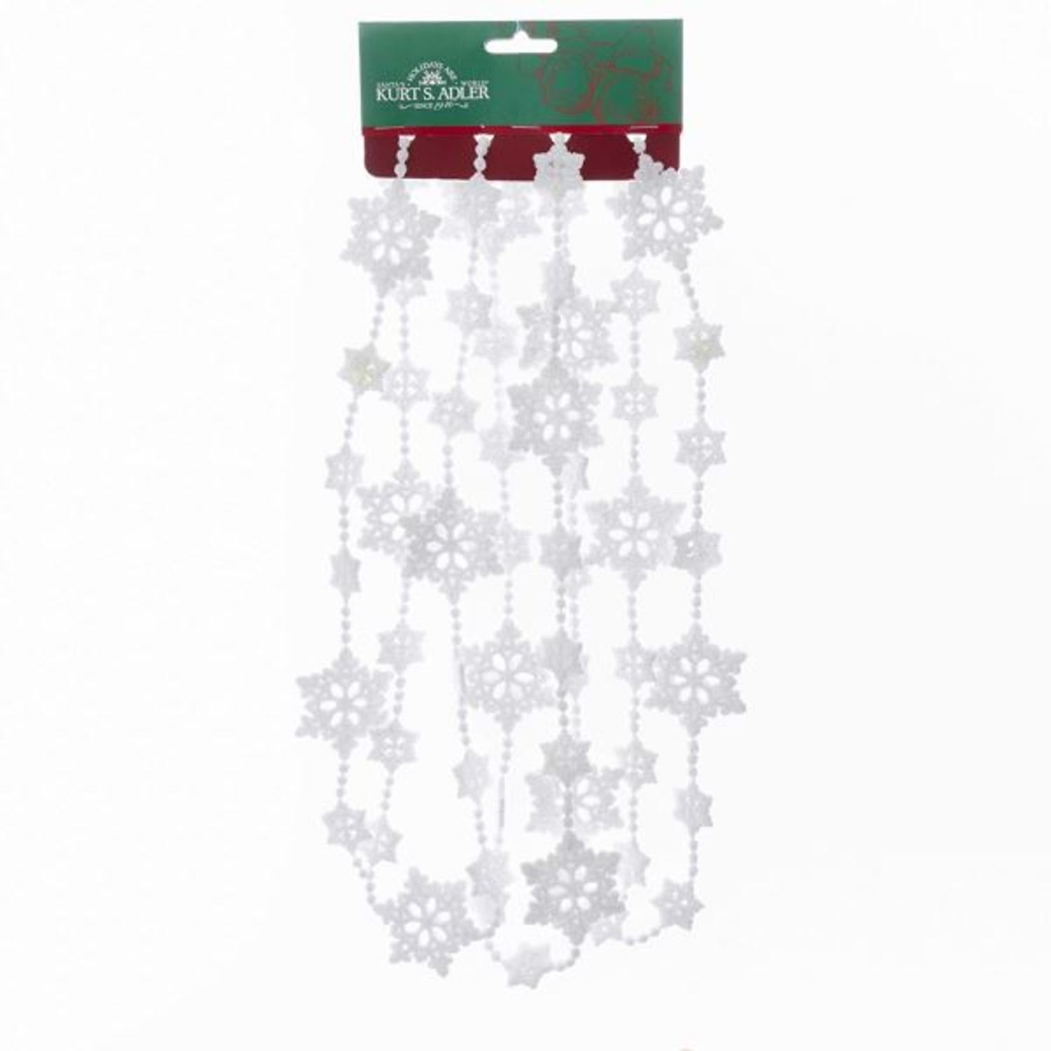 Club Pack Of 12 White Glittering Snowflake Designed Garland