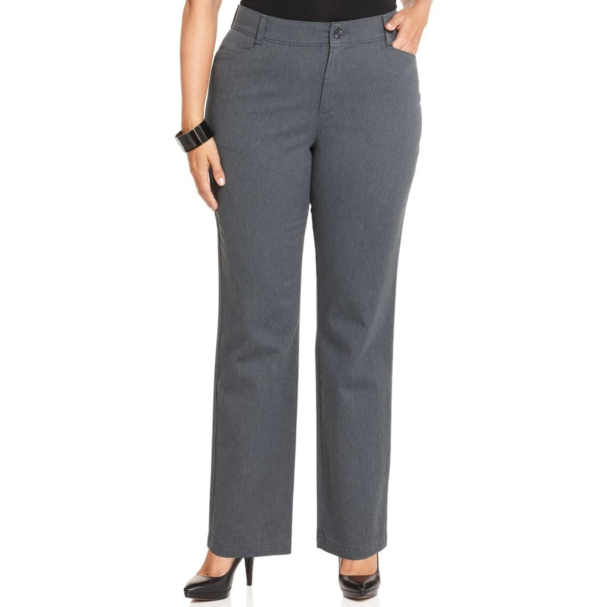 71a592ae88e Shop Lee Platinum Label Womens Plus Straight Leg Pants Relaxed Fit Flat  Front - Free Shipping On Orders Over  45 - Overstock.com - 13806375