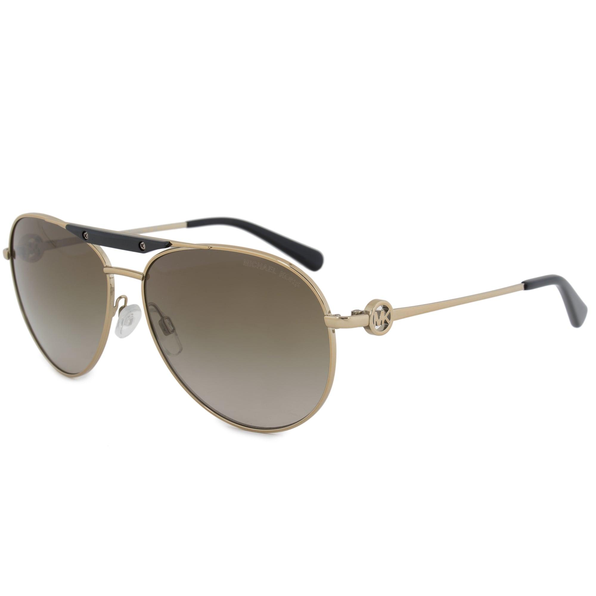 f446aab39b Shop Michael Kors Zanzibar Aviator Sunglasses MK5001 100413 58 - On Sale -  Free Shipping Today - Overstock.com - 19622504
