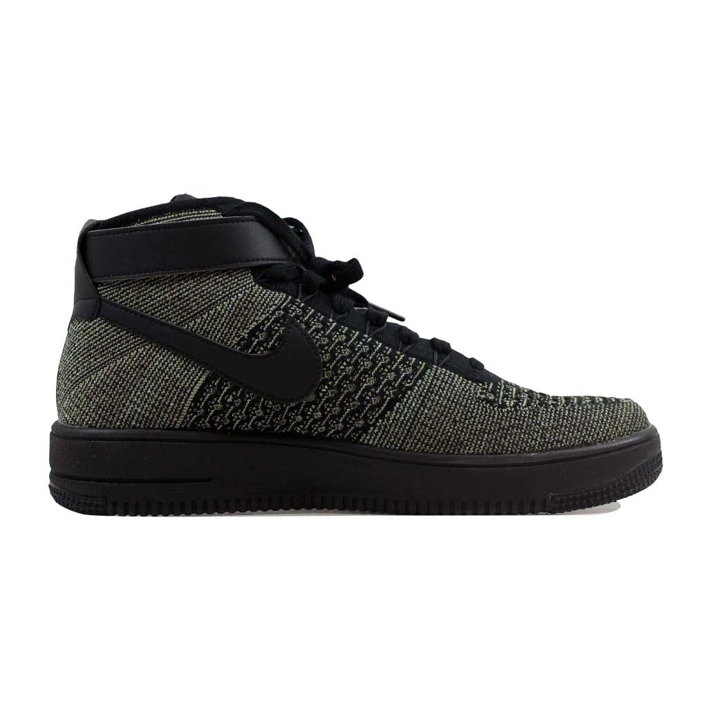 01a612376d90 Shop Nike Men s Air Force 1 Ultra Flyknit Mid Palm Green Black-White  817420-301 - Free Shipping Today - Overstock - 22546815