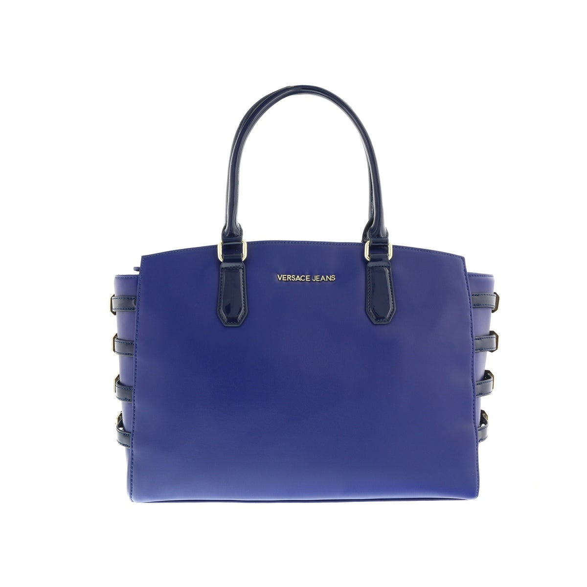 14fd3ceb0fd7 Shop Versace EE1VOBBE2 E240 Prussian Blue Satchel Shoulder Bag - prussian  blue - 15-11-7 - Free Shipping Today - Overstock.com - 17306191